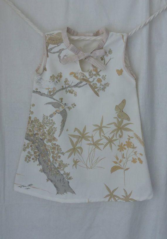 Girls Dress Size 3 Upcycled Handmade Poly Cotton by dezignhub