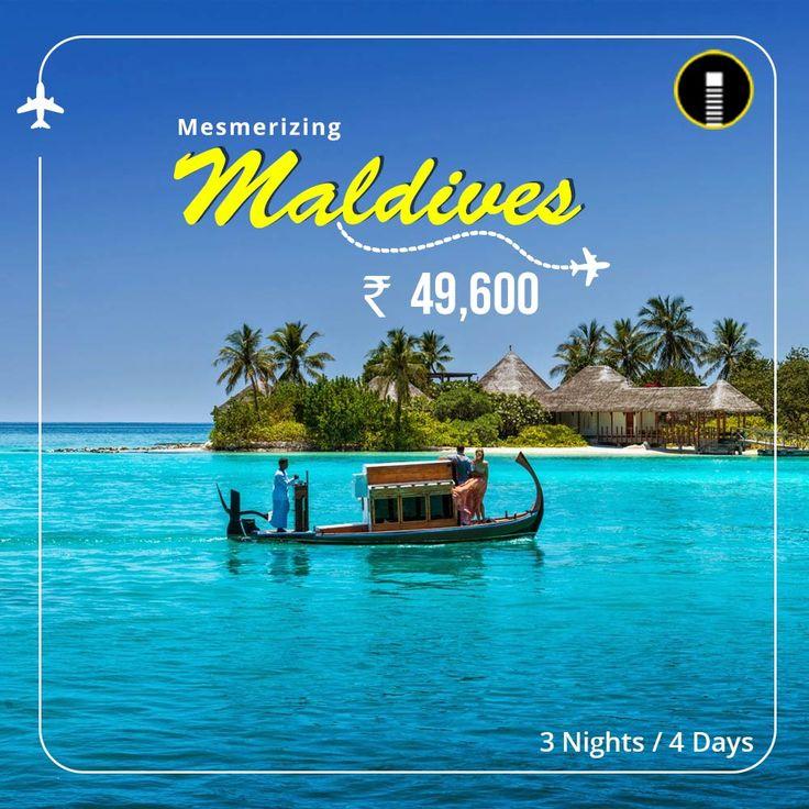Mesmerizing Maldives travel package banner design