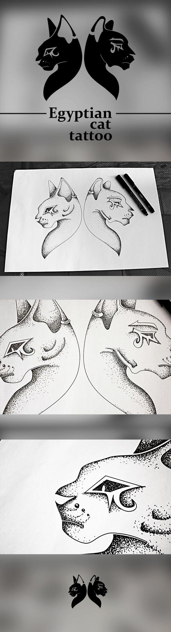 https://www.behance.net/gallery/21050567/Egyptian-cat-tattoo