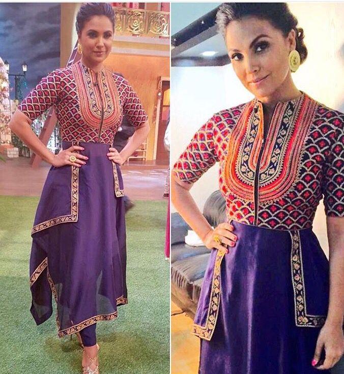 Sahil kochar# Lara Dutta # fashion # Indian fashion # fusion wear