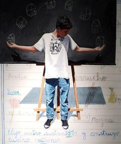 """""""Tarea para el hogar"""" de Claudio Gallina, pintor argentino"""