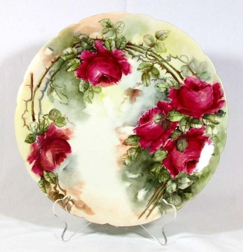 JPL red roses plate & 859 best LIMOGES COLLECTION images on Pinterest | Porcelain China ...