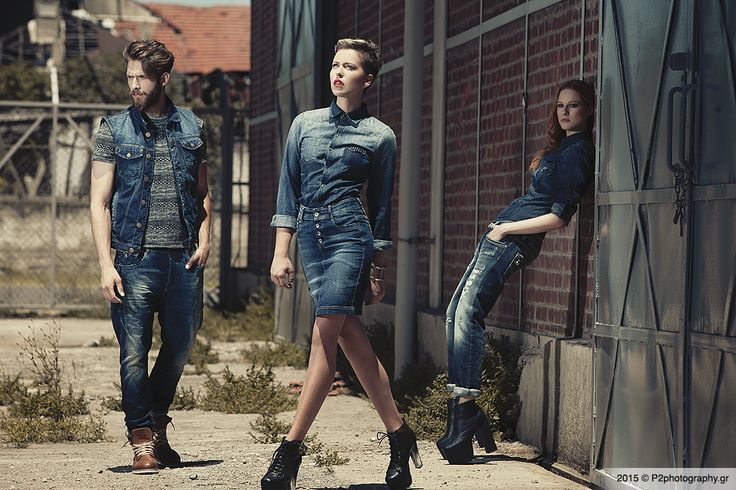 Our work: Edward Jeans AW 2014-15 denim on denim #p2photography #editorial #catalogue #fashion  #dark #beauty #EdwardJeans