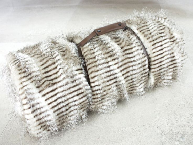 Lemur Faux Fur Throw NZ $145, I am lined with soft grey velboa & ready to snuggle when you are!