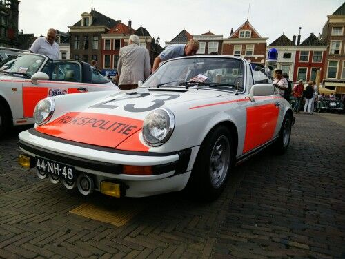 Old Dutch police Porsche in Delft