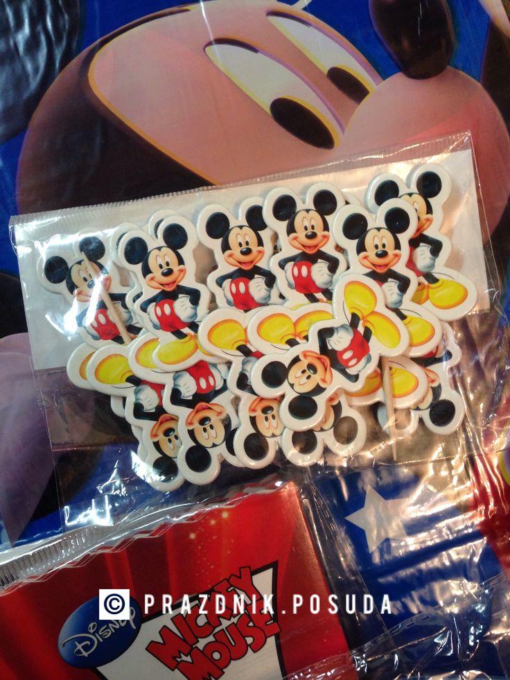 Топпер Микки Маус , красивое украшения для праздничного стола