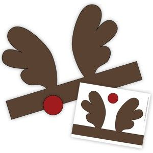 rudolph antlers template - 35 best images about christmas reindeer on pinterest