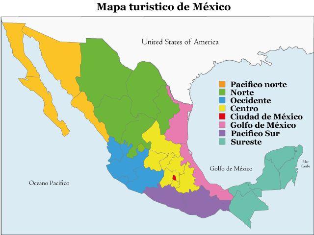 Mapa Turistico de Mexico                                                                                                                                                     Más