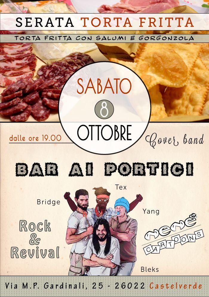 Locandina bar: serata torta fritta, cover band