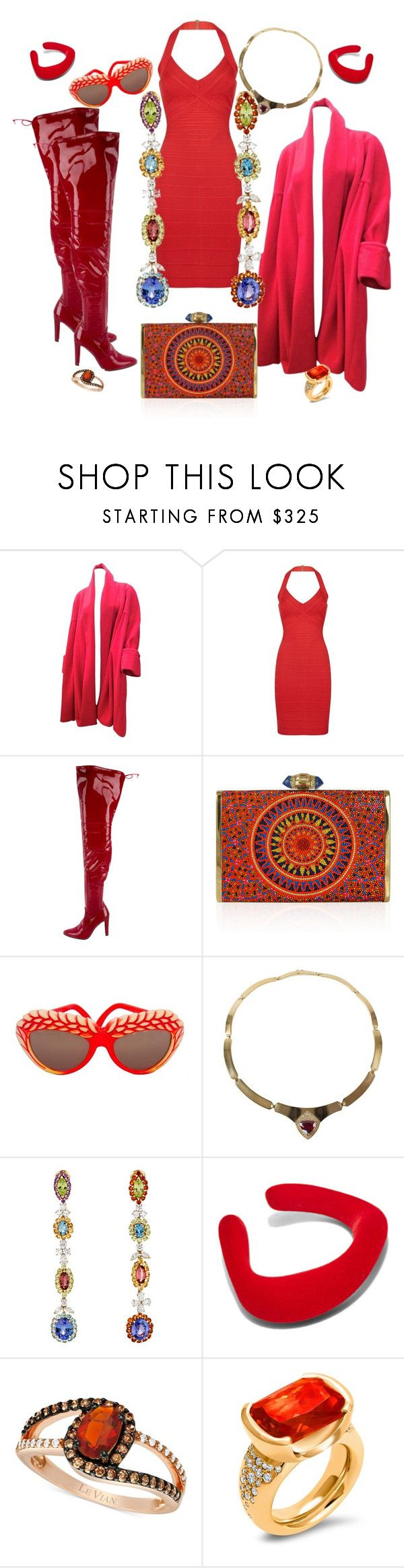 """It's raining RED"" by jeniferkcarsrud ❤ liked on Polyvore featuring Chanel, Hervé Léger, Stuart Weitzman, Judith Leiber, Isabel Canovas, Sidney Garber, Ribeyron, LE VIAN and Hargreaves Stockholm"