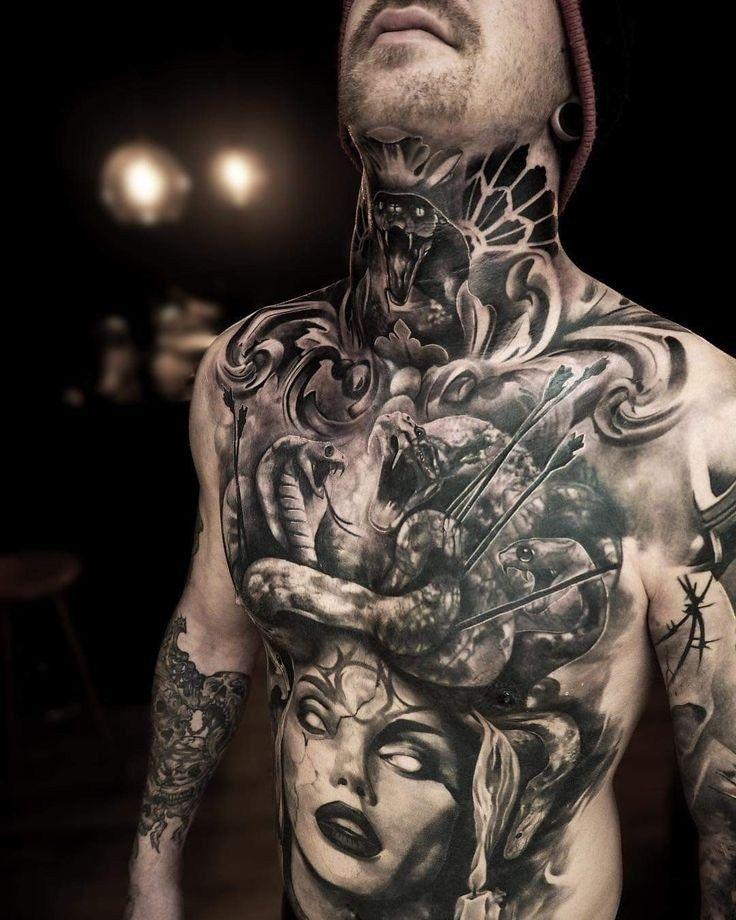 33 Best Chest Tattoos You Can Opt Tattoovorlagen24 Greek Tattoos Full Chest Tattoos Chest Piece Tattoos