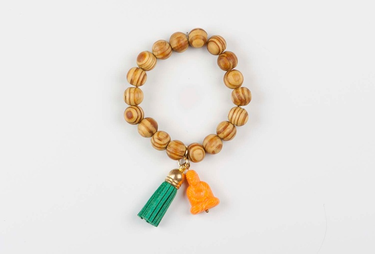 Buddha bracelet Gypsy Soul - Orange / Green