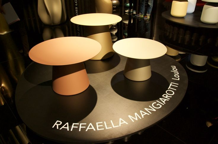 Our stand at Salone del mobile 2016 #salonedelmobile #2016 #Serralunga #newproducts #loulou #table #new #finishing #metal #lacquered #gold #bronze #steel #elegance #style #design #madeinitaly