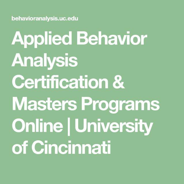 applied behavior analysis certification & masters programs online ...