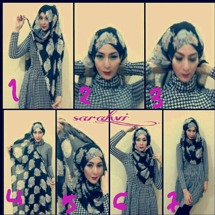 Hijab Tutorial 2 (i need to learn, i want to wear the hijab <3)