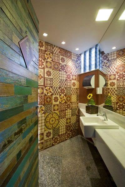 restaurants bathrooms | Carne Italian Unique Restaurant Bathroom Design Ideas | Design Ideas ...