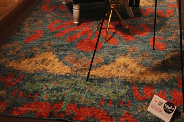 "Thom Filicia's ""The Nottingham"" rug in trend setting colors of red, blue, yellow and aqua. This hand knotted beauty would be great most anywhere! Thom Filicia for Safavieh 305 W. High Ave Suite 120."