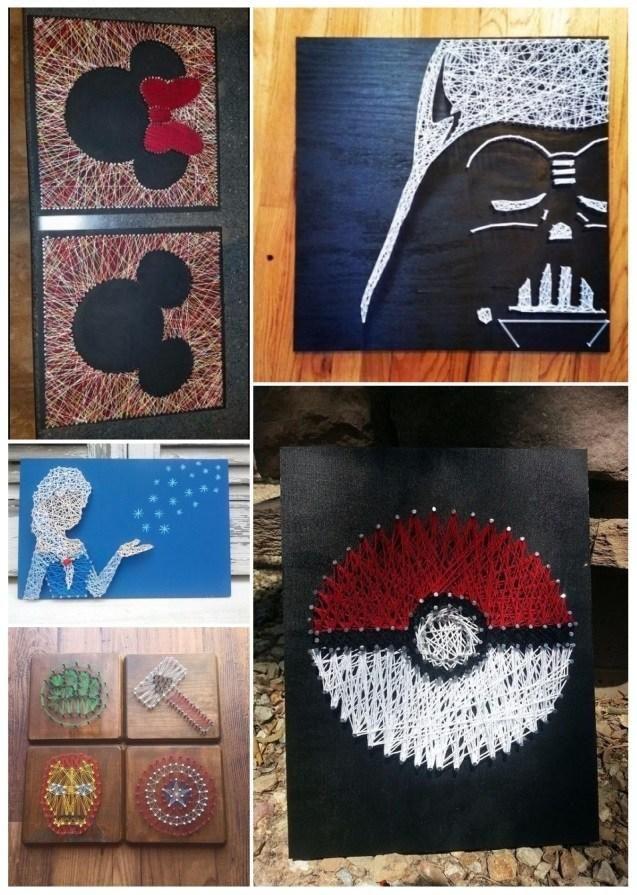 M s de 25 ideas incre bles sobre cuadros con hilos en - No mas clavos para colgar cuadros ...
