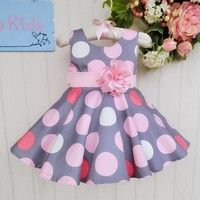 Creo que Designs 2015 baby dress Pink flowers dancing girl clothing Gray Dot Sweet girls Princess wedding dresses te gustará. Agrégalo a tu lista de deseos   http://www.wish.com/c/54b4d81228565a74cb1e47c9