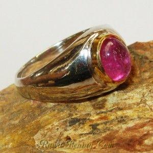 Cicnin Batu Ruby Silver Ring 6.5 US model Vintage