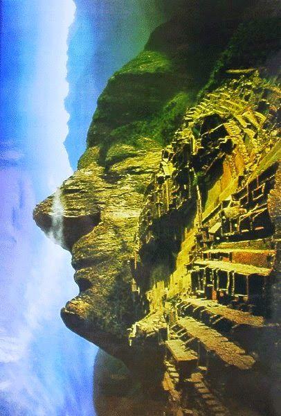 Cara inca efecto visual en Machu Picchu | Dream I en 2019 ...
