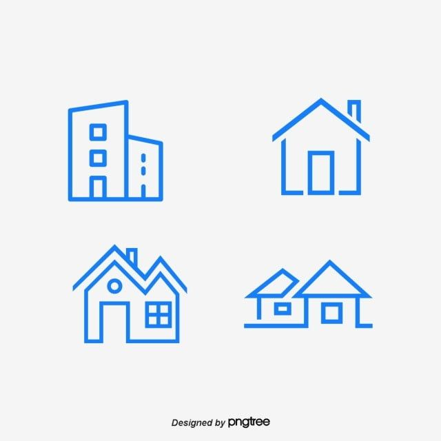 Blue Housing Estate Logo Vector And Png Vector Logo Logo Design Template House Logo Design