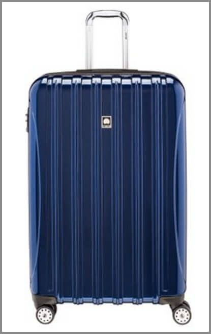 One of the best suitcases for travel - the Delsey Luggage Helium Aero Expandable Spinner Trolley (29'')