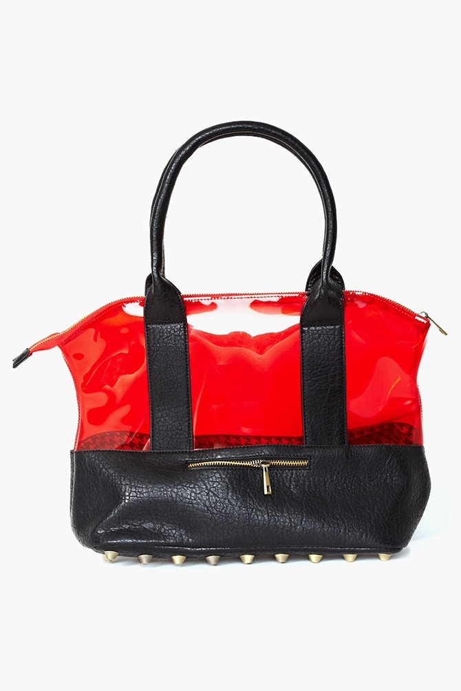 Studded Jelly Tote Bag