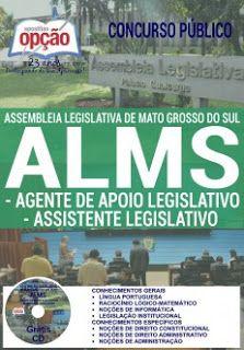NewsApostilas : Apostila Concurso ALMS 2016 (GRÁTIS CD)
