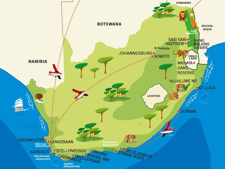 Südafrika Rundreise Reiseroute