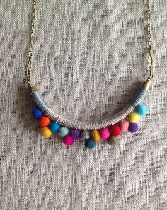 The FRANKIE Necklace Color Study No by NestoftheBluebird on Etsy, $44.00
