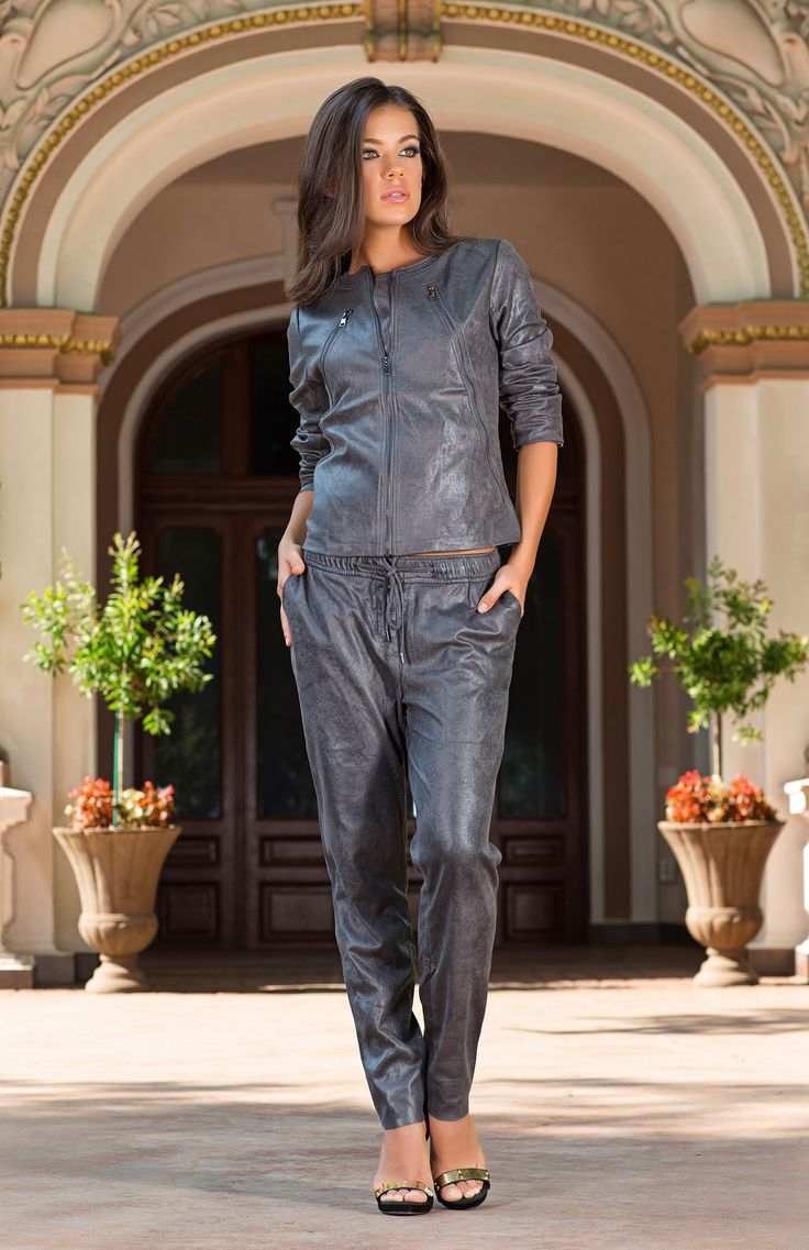 A versatile co-ordinating two piece can easily be worked into the layering trend of the season. Nalini features soft tailoring and a luxe-sheen finish that can be dressed up with heels or down with some stylish designer trainers.