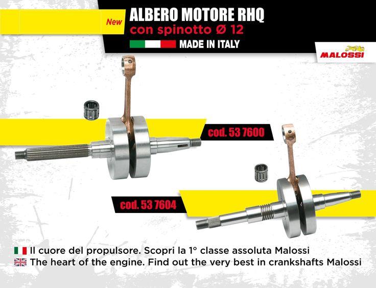 L'albero motore: il cuore del propulsore. Scopri la 1° classe assoluta Malossi  cod. 53 7600 ➠ http://bit.ly/1Ro2Zi2 cod. 53 7604 ➠ http://bit.ly/1RWsfLC  The crankshaft: the heart of the endothermic engine. Find out the very best in crankshafts Malossi  cod. 53 7600 ➠ http://bit.ly/1RRmbE2 cod. 53 7604 ➠ http://bit.ly/1OvQ0Vl