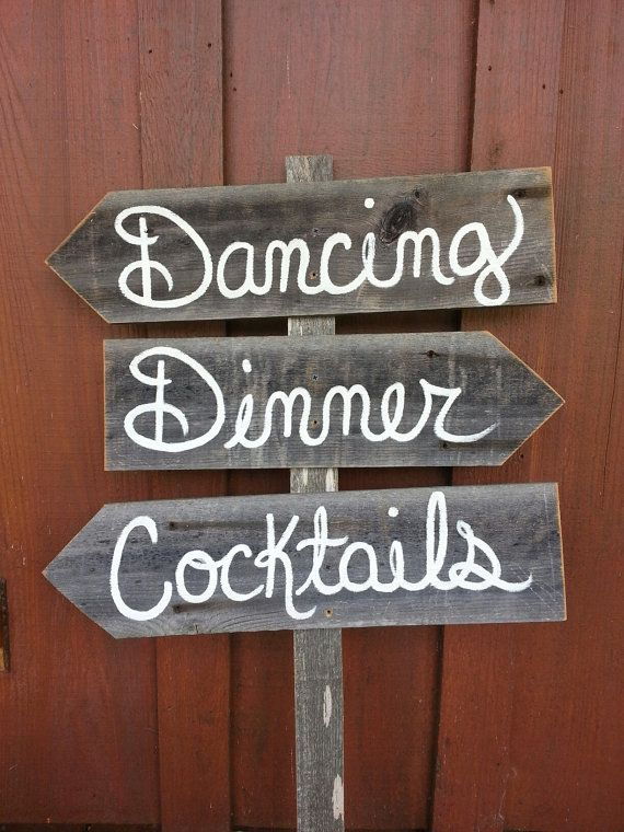 Wood Wedding Sign YOUR WORDS Country Wedding by TRUECONNECTION, $75.00