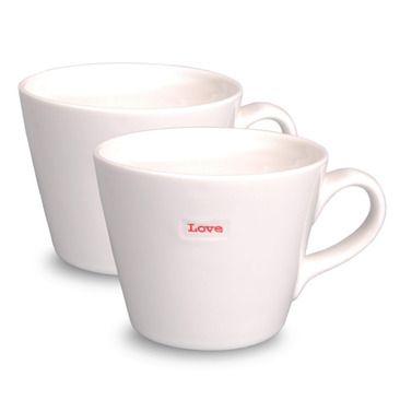 Bucket Mug - Love - Set of 2 | Keith Brymer Jones | Contemporary Homeware
