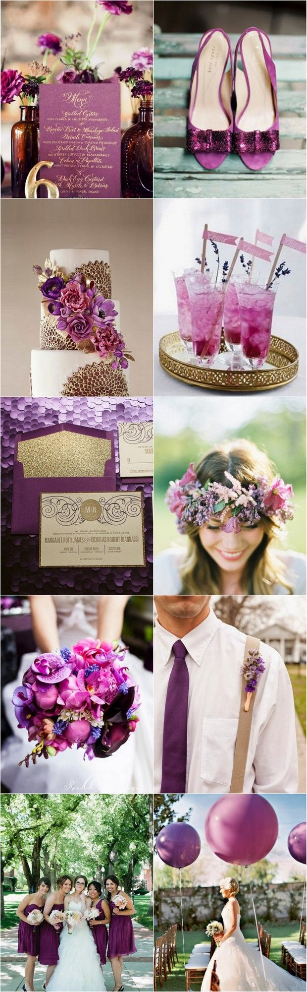 Radiant Orchid – 2014′s Most Delectable Wedding Colour | weddingsonline  I like purple as a theme colour, but a lighter shade