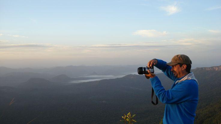 estaba en el abismo en la gran sabana tomando fotos y viviendo experiencias increíbles