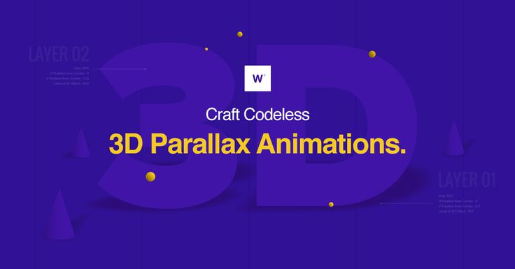 Webydo's Codeless 3D Parallax Editor enables designers to create  advanced 3D parallax compositions visually, without the use of code.