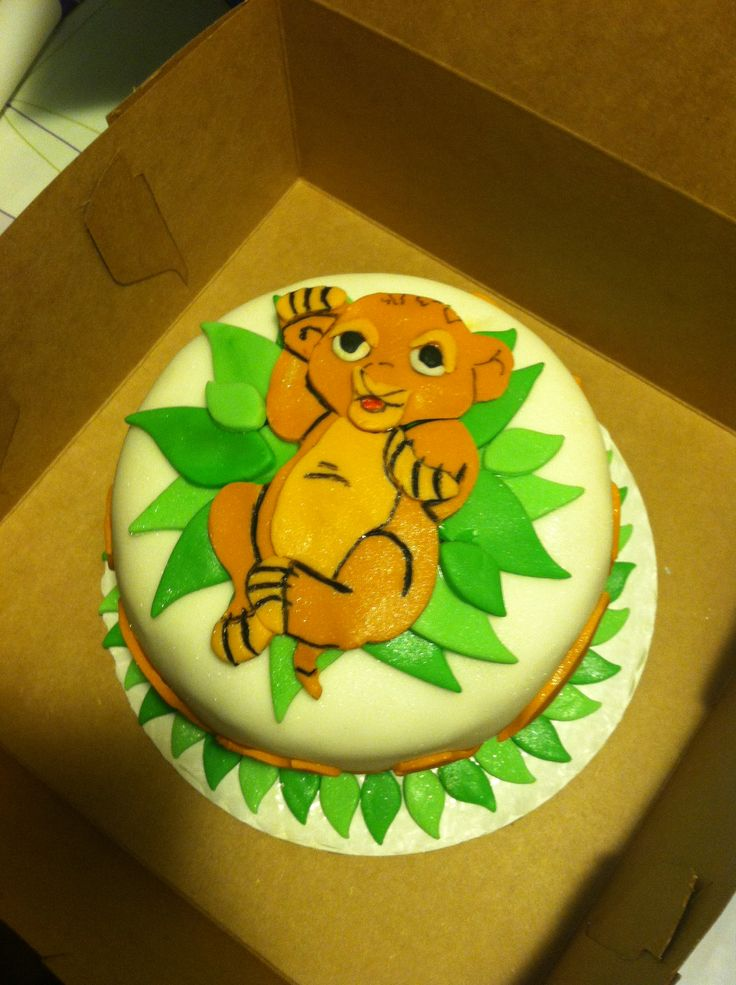 Simba Baby Shower Cake   Last Call Cupcakes