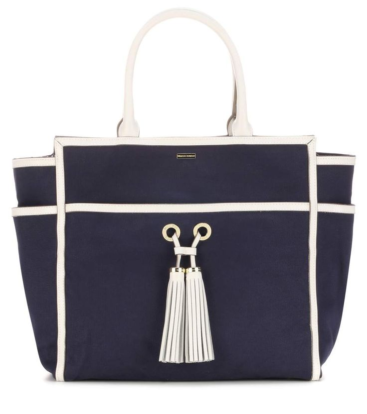 GABRIELLE'S AMAZING FANTASY CLOSET | Melissa Odabash Palm Beach navy canvas tote