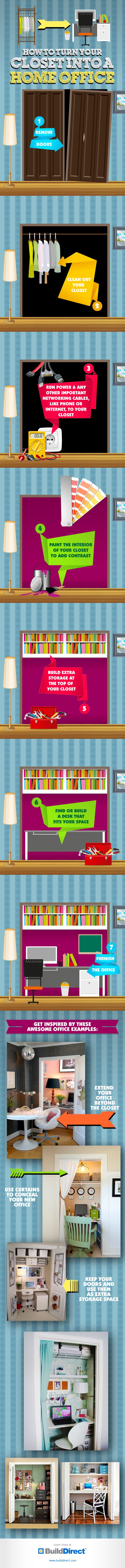 Closet Office How To Create A Closet Office