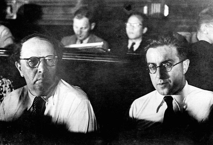 Tolstoi y Koltrov, en el Congreso Internacional Antifascista de julio de 1937
