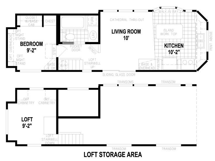 Kingstown 12 X 35 Park Model RV Floor Plan | Factory Expo Park Models