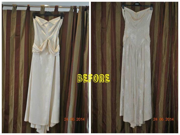 Silk Vintage Wedding Dress Before Alteration