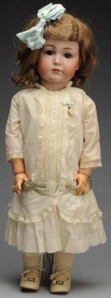 "K & R 117 Character Doll.  German bisque socket head incised ""K [star] R Simon & Halbig 117 70"