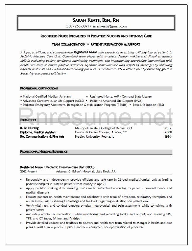 New Graduate Nurse Resume Examples Unique 1000 Ideas About Rn Resume On Pinterest Rn Resume Nursing Resume Template Nursing Resume