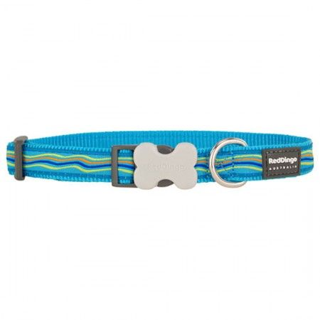 Red Dingo Dreamstream Turquoise Medium Dog Collar - Red Dingo dog collar Red Dingo Dog Collar Medium - globaldogshop.com