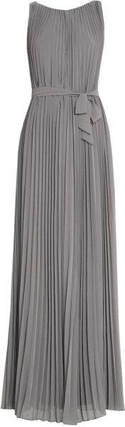 Maxi Plissé Dress - Lyst