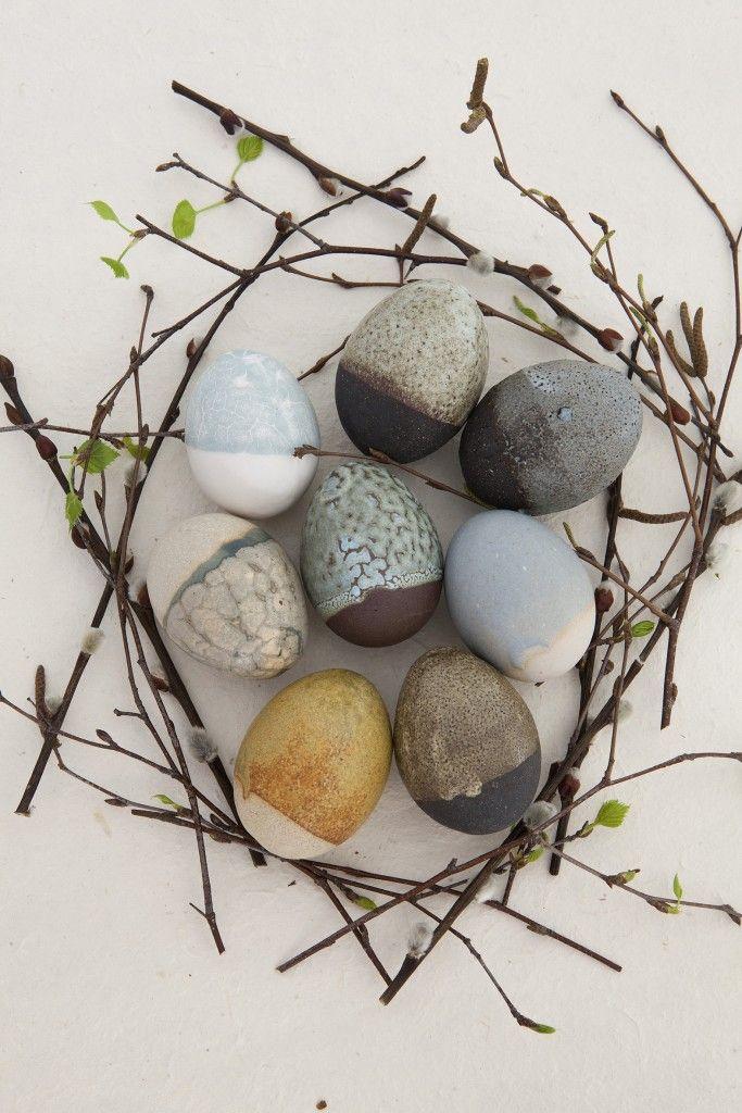 clay Eggs by Ceramist Mette Strøm