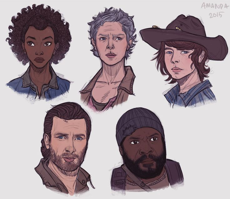 Best ROSITA ART Images On Pinterest Fan Art Caricature And Eye - Walking dead intro recut drunk people